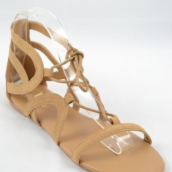A Day In The Life Strappy Sandals ~ Tan