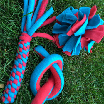 Puppy Dog Fleece Toys Tug Chew Toss Fetch.  Indoor or Outdoor Entertainment for you new puppy