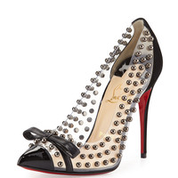 Bille Studded PVC Red Sole Pump, Black - Christian Louboutin - Black
