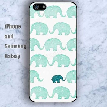 Cartoon Elephant lighting blue iPhone 5/5S case Ipod Silicone plastic Phone cover Waterproof