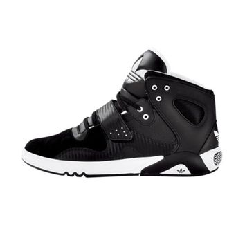 Mens adidas Roundhouse Athletic Shoe, Black White, at Journeys Shoes