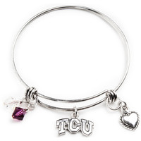 TCU Horned Frogs Bangle Bracelet