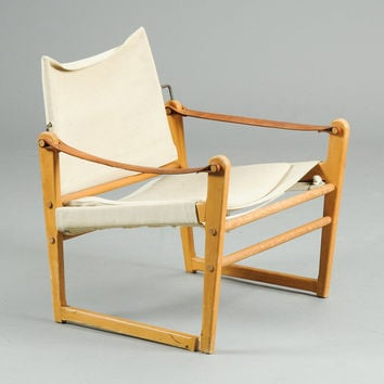 Rare and Unusual Danish Safari Chair MCM