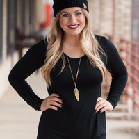 Black Tunic Top