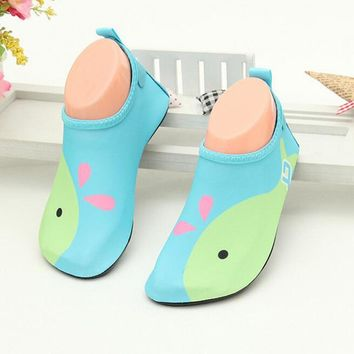 Leightweight Children Aqua Shoes Swimming Fins Diving Socks Scuba Snorkeling Boots Prevent Scratche Non-slip Seaside Beach Shoes