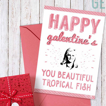 "Galentine's day card, Leslie Knope ""Happy galentine's day"""
