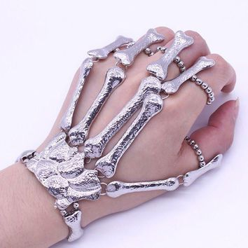 Halloween Props Gift Fun Nightclub Party Punk Finger Bracelet Gothic