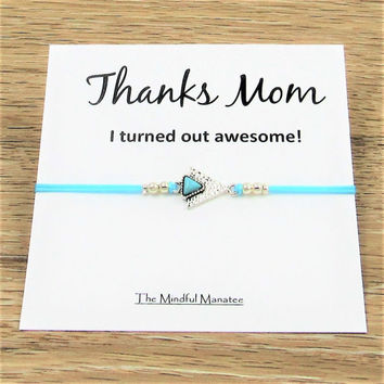 Mom Bracelet | Mother's Day Gift | Jewelry for Mom | Thanks Mom | Gift for Mom, Mother, Stepmother | Gift for Her | Mother Daughter