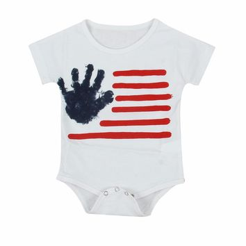 Puseky Cotton Infant Baby Boy Girls Clothing Jumpsuits Palm Stripe Print Bodysuit One piece Baby Boys Girl Clothes Tiny Cotton