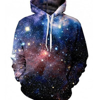 Galaxy Cosmo Stars Stylish Artistic Hoodie Sweatshirt Jumper Pullover Jacket Shirt Top Sportswear _ 9548