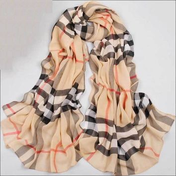 Beady Microfiber Scarf  Checkered Design