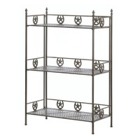 Wild Western Lucky Horseshoe And Lone Star Baker's Rack