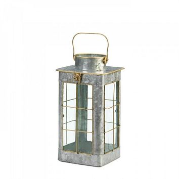 Small Country Farmhouse Galvanized Lantern
