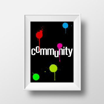 Community Poster, Paintball, Movie Poster, TV Show, TV Series