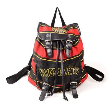 harry potter backpack hogwarts knapsack backpack cosplay harry potter bags