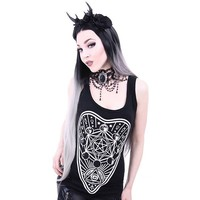 Restyle Moon Phases Ouija Board Occult Witch Gothic Black Sleeveless Vest Top
