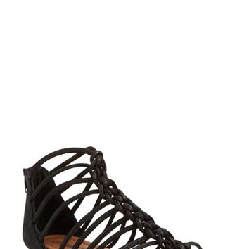 Women's Lucky Brand 'Casmett' Leather Caged Sandal