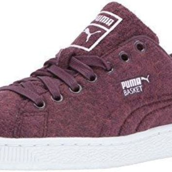 PUMA Men's Basket Classic Embossed Wool Fashion Sneaker