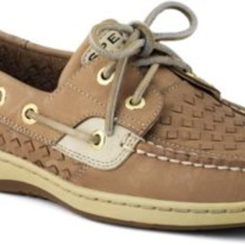 Sperry Top-Sider Bluefish Woven 2-Eye Boat Shoe LinenWovenLeather, Size 10S  Women's Shoes