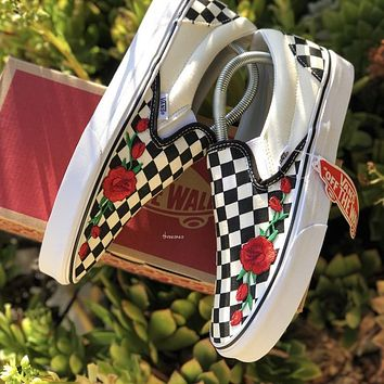 "Vans Slip On ""Roses"" Customs"