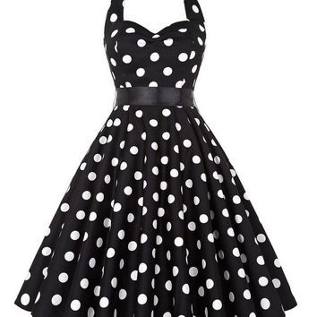 Vintage Polka Dot Rockabilly Dresses