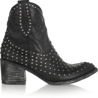 Mexicana - Laguna studded distressed leather ankle boots