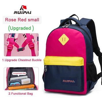 School Backpack RUIPAI Brand School Bags for Girls Durable Backpack Schoolbag High Quality Mochila Backpacks Reinforcement Kids Baby Bags AT_48_3