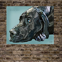 Great Dane Print 16x20 (See last photo for other options)