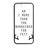 CTSLR Laser Technology Fall Out Boy TPU Case Cover Skin for Apple iPhone 5/5s- 1 Pack - Black - 2