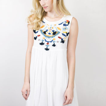 June Front Embroidered Dress