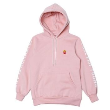 로맨틱크라운(ROMANTIC CROWN) [ROMANTICCROWN]frenchfries hoodie_pink - 65,000원 | 무신사 스토어