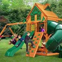 Gorilla Playsets Mountaineer Treehouse Wooden Swing Set