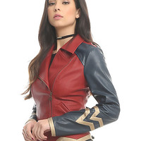 Her Universe DC Comics Wonder Woman Armor Faux Leather Jacket