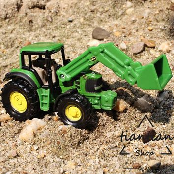 siku 1:64 kids toys Alloy car Super-resistant Engineering vehicles tractor Long arm forklift  Family Decoration Like a gift