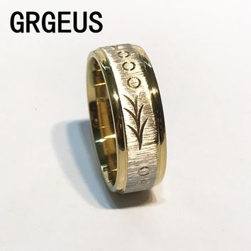 Titanium Gold Classic Stainless Steel Ring