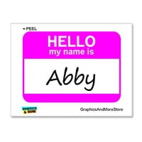 Abby Hello My Name Is Sticker