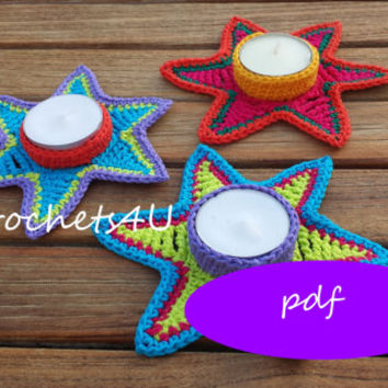 pattern crochet star / crochet pattern / thealight