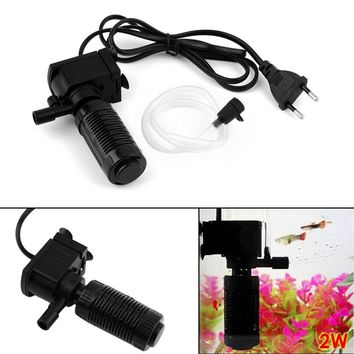 Mini 3 in 1 Aquarium Internal Filter Fish Tank Submersible Pump Spray EU