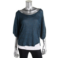 Free People Womens Oversized Slouchy Pullover Top