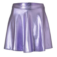 PURPLE METAL SKATER SKIRT
