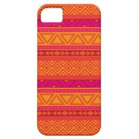 Bright Pink Aztec Tribal Pattern 9 iPhone Case