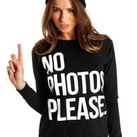 Black 'No Photos' Jumper