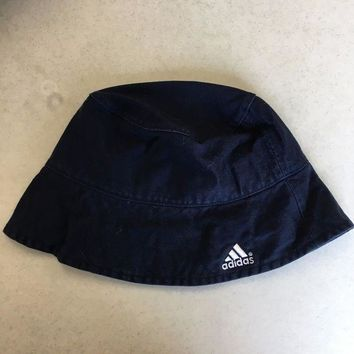 DCCKIHN BRAND NEW ADIDAS NAVY WOMEN'S BUCKET HAT LARGE/XLARGE SHIPPING