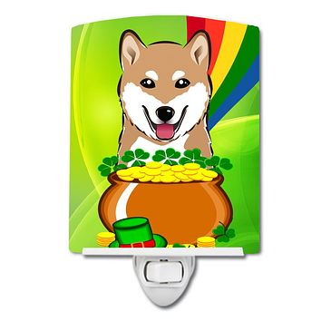 Shiba Inu St. Patrick's Day Ceramic Night Light BB1969CNL