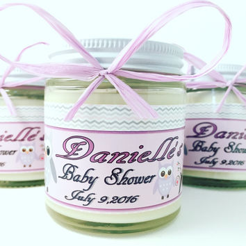 4oz. Baby Food Jar Soy Candles with Custom Labels