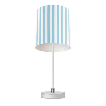 Light Blue Thick Stripes Table Lamp