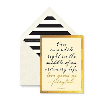 Once In A Right In The Middle Greeting Card, Single Folded Card