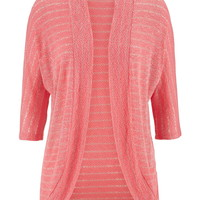 Striped Cocoon Cardigan - Fruit Punch