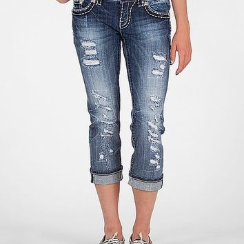 Miss Me Destroyed Stretch Cropped Jean