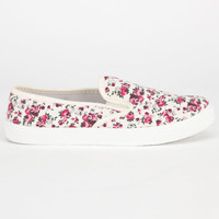 Full Tilt Slip On Womens Shoes Multi Floral  In Sizes